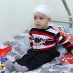 Двухлетний Арцвик, раненый в результате тяжелого обстрела Мартуни, уже выписан из Медцентра
