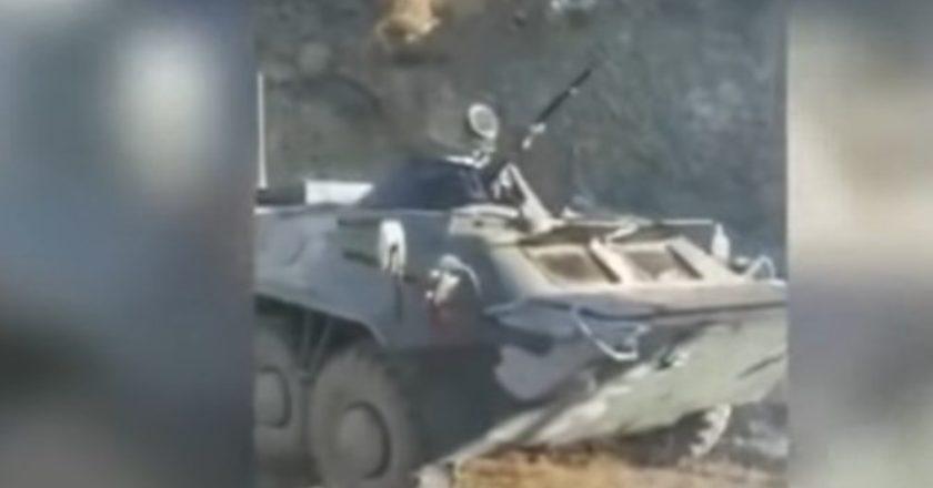 Враг оставил военную технику на поле боя и бежал (Видео)