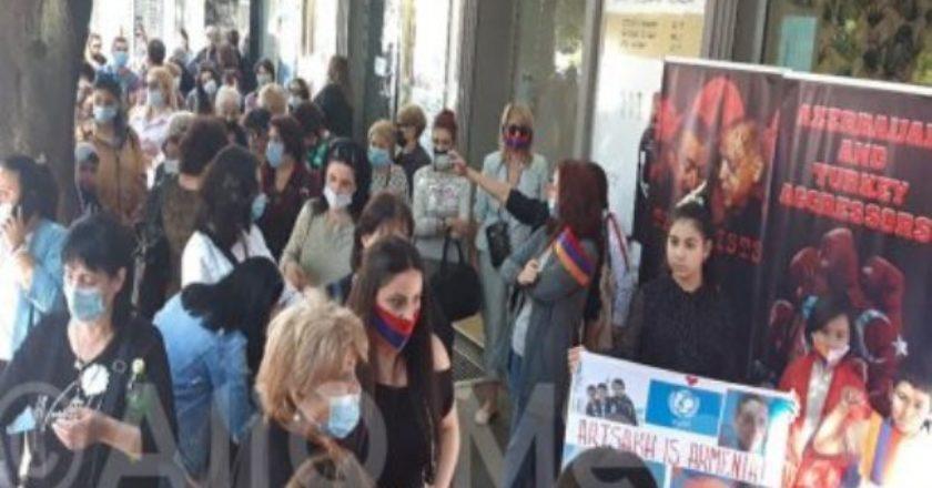 Армяне Аджарии поддерживают Арцах: Мирная демонстрация в Батуми