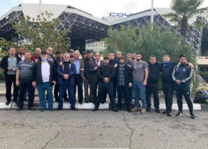 В Арцах отправилась первая группа добровольцев «Амшен» из Абхазии