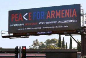 На дорогах США появились билборды с призывами признать Арцах и поддержать армян