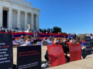 В Вашингтоне состоялась безмолвная акция протеста в поддержку Арцаха