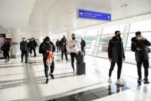Сборная Армении по футболу прибыла в Грузию