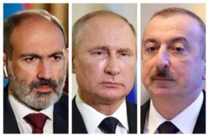 Путин провел телефонные разговоры с Пашиняном и Алиевым