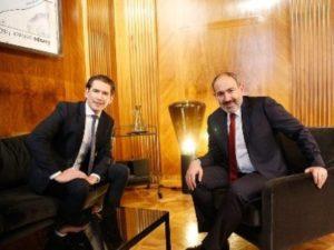 Канцлер Австрии поблагодарил премьер-министра Армении за солидарность и поддержку