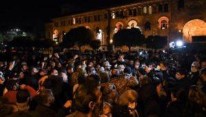 Акция в поддержку Никола Пашиняна проходит у правительства