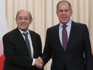 Главы МИД России и Франции обсудили ситуацию в Карабахе