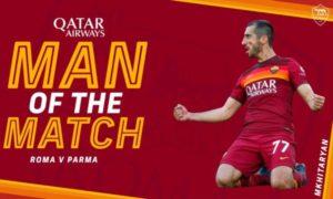 Мхитарян – лучший игрок матча против «Пармы»