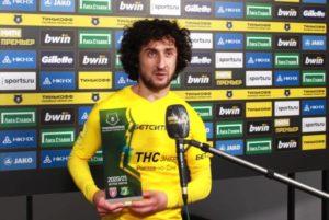 Хорен Байрамян вошел в состав символической команды российской Премьер-лиги