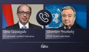 Глава МИД Армении проинформировал генсека ООН о совершенных Азербайджаном военных преступлениях