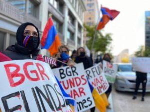 В США армяне организовали акцию протеста перед зданием лоббистской компании BGR