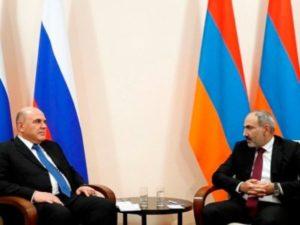 Пашинян и Мишустин обсудили ряд вопросов повестки армяно-российских отношений