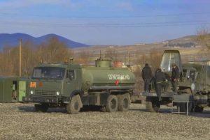 В Арцахе российские миротворцы оборудовали полевой автопарк