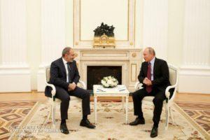 Путин похвалил Пашиняна и назвал его решение мужественным