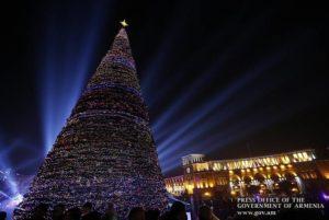 В этом году в Ереване отменяется новогодняя ёлка