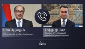 Главы МИД Армении и Италии обсудили по телефону ситуацию, сложившуюся в Карабахе в результате азербайджанской агрессии