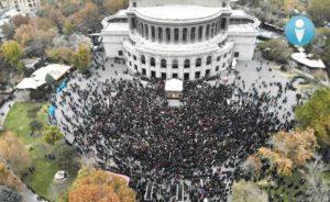Совет 17 политических партий Армении на митинге не смог собрать даже 8000 человек