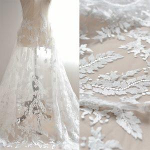 Ткань для свадебного платья: виды
