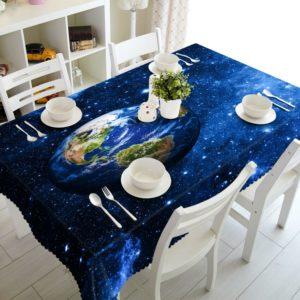 Синяя скатерть – меняем дизайн комнаты одним щелчком!